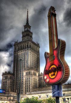 Hard Rock Cafe in Warsaw, Poland Visit Poland, Central Europe, My Heritage, Travel Agency, Eastern Europe, Empire State Building, Hard Rock, Big Ben, Warsaw Poland