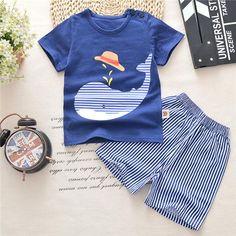 5b5ba436d714 Cartoon Newborn Baby Boy Clothes Summer 2018 New Baby Boy Girl Clothing Set  Cotton Girls Clothing