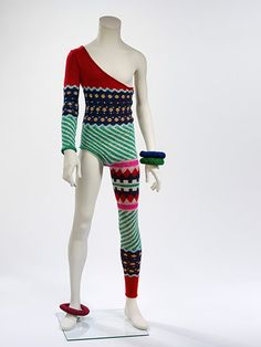 Asymmetric knitted bodysuit, 1973 Designed by Kansai Yamamoto for the Aladdin Sane tour