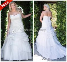 Wholesale Wedding Dresses - Buy 2013 New Arrival Organza A-Line Simple Floral Wedding Dresses Plus Size Corset Garden Bridal Gowns, $169.62   DHgate