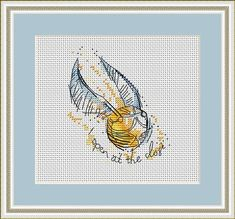Cross Stitch Pattern for Instant Download|Embroidery Design|Watercolor cross stitch|Harry Potter Cross Stitch Pattern|Hogwarts|Snitch