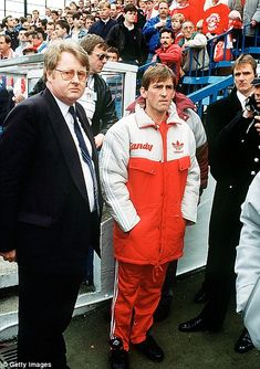 Emotional: Then Liverpool manager Kenny Dalglish looks on in horror at Hillsborough
