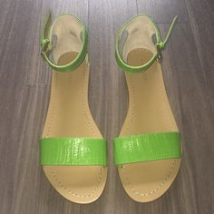 Brand new nine west light green sandals They are brand new, however they seem a bit too tight on my foot. They are gorgeous and they are in impeccable condition. Nine West Shoes Sandals