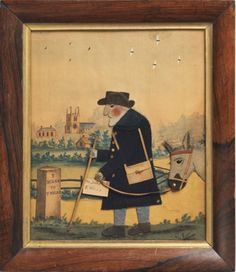 Robert Young Antiques - Folk Art Collection. 'Old Bright, The Postman' by George Smart of Frant #FolkArt