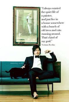 Y'ALL NORMAN WANTS TO BE A CAT LADY AND A LONER! WE WOULD GET ALONG SO GOOD!