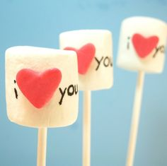 Heart Marshmallow Pops #pinparty