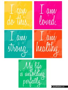 Affirmation Cards {free printable}