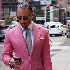 "936 Likes, 98 Comments - Christopher Korey (@christopherkorey) on Instagram: ""Feeling Like Summer Today In NYC. #christopherkorey #fashion #mensfashion #blue #gq #ootd #ootd #me…"""