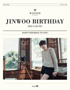 YG Entertainment wishes WINNER's Jinwoo happy birthday | http://www.allkpop.com/article/2014/09/yg-entertainment-wishes-winners-jinwoo-happy-birthday