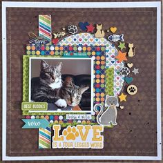 Best Buddies Layout by Kristine Davidson - Scrapbook.com