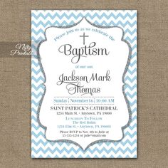 Mickey Mouse Baptism Invitation by MelissaStanleyDesign on Etsy