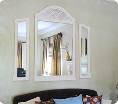 Made from old dresser mirror.  Beautiful!