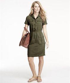 #LLBean: Signature Fatigue Shirt Dress