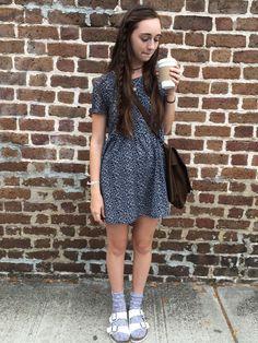 ootd!!: (I felt so cute today) dress: h&m shoes: Birkenstocks bag: eBay socks: they are old &my moms haha sun necklace: ig @welovedaisybtq moon choker: ig @daizeijewellery coffee: it's a vanilla...