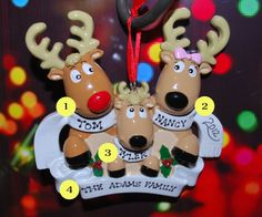 FREE Ornament Gift Bag  Personalized Reindeer by confettigiftsbyg