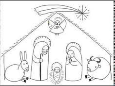 5497f3d69e31 Disegno... una semplice Natività. Nascite. YouTube