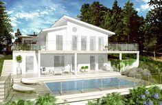 Bygga hus Stockholm | LM Erikssson Byggtjänst - LM Design Sims House, House Floor Plans, My Dream Home, Future House, Building A House, Beautiful Homes, Villa, House Design, Architecture