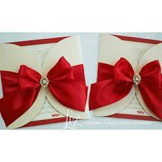 Love in Red! ❤ Lorena & Jaime /  invitaciones de boda en color rojo, ivory y dorado / wedding invitations / cards / tarjeteria / handmade
