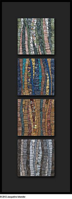 No Such Thing As Time by Jacqueline Iskander, mosaic Mosaic Tile Art, Mosaic Crafts, Mosaic Projects, Mosaic Glass, Mosaic Mirrors, Fused Glass, Mosaic Pots, Pebble Mosaic, Art Projects