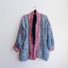 Vintage Hmong Jacket / Woven Indigo Embroidered by PlumeCanyon