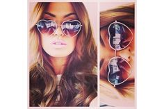 New hair styles women ray ban sunglasses ideas Ray Ban Sunglasses Outlet, Oakley Sunglasses, Sunglasses Online, Boho Hippie, Face Shapes, Heart Shapes, Ray Bans, Heart Glasses, Heart Shaped Sunglasses