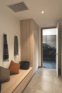 High Street / Alta Architecture -omg I love this simple mud room Interior Architecture, Interior Design, Entry Hallway, Entry Closet, Street House, House Entrance, Entrance Hall, New Home Designs, Minimalist Home