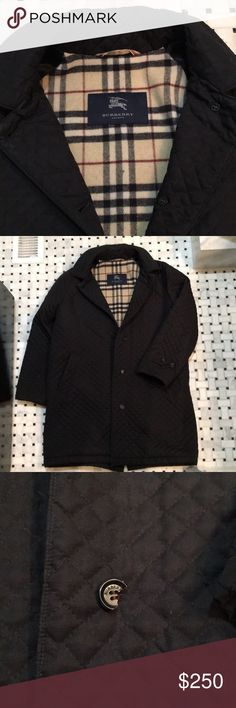 Burberry Jacket Authentic purchased at Nordstrom. One button is broken shown in picture. Burberry Jackets & Coats