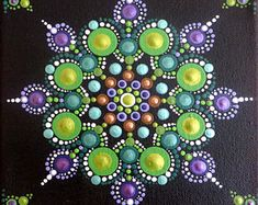 6x6 in Mandala painting on canvas