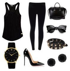 """In BLACK we trust "" by elizabeth-jatmiko on Polyvore"