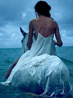 "Go horse riding in the ocean Amanda Wellsh in ""Wayfinder"" by Will Davidson for Vogue Australia, July 2014 Foto Fantasy, Double Exposition, Vogue Australia, Horse Love, Horse Girl, Belle Photo, Christian Lacroix, Character Inspiration, Love Fashion"