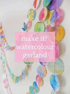 With summer just around the corner (although you wouldn't know it with all this rain!), it's the perfect time to start bringing a bit of colour back into life and what better way than with this watercolour colour garland DIY! It's the perfect opportunity to get out your paints and have a bit of fun …