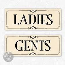 Ladies And Gents Toilet Signs Vector Stock Vector Image - Bathroom signs for business
