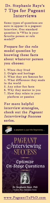 """Inside Pageant Interviewing Success: Optimize On-Stage Questions, discover…  • 6 """"what if"""" questions • 3 things you can do to stay calm during the interview • 4 qualities the judges are looking for • 5 tips for speaking into a microphone • 2 bad habits you should avoid • 16 methods for handling nerves • 6 practice exercises  You will also learn how to… • Answer pageant questions completely • Look your best on-stage • Use body language to convey confidence • Prepare the night before"""