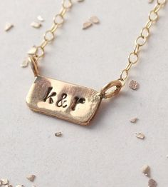 Custom Itty Bitty Bar Necklace by Make Pie Not War