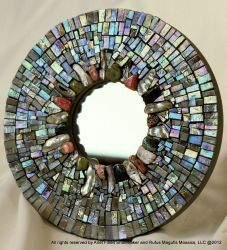 mosaic mirror circa 2006 by Ariel Shoemaker