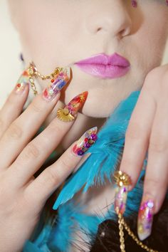 Rio carnival queen nails photo contest for Yournails magazine : this was the 2nd place winner ;)