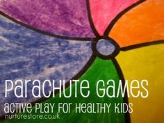 Parachute games (can use bed sheet if you don't have a parachute. don't need several kids!)