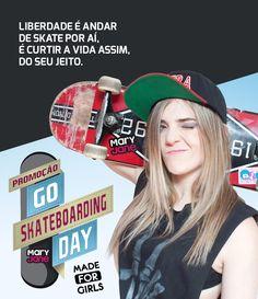 Ação Dia do Skate Mary Jane Criação de campanha e peças para ação de comemoração ao dia do Skate. #adv #campanha #anúncio #mídia #skate #karenjonz #skate #gampi Mais em www.gampi.com.br