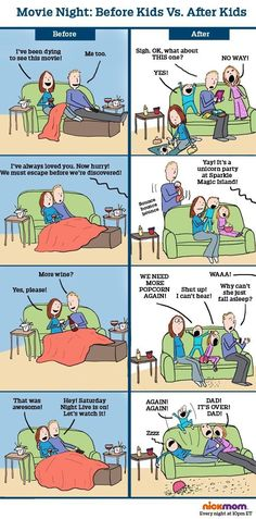 Life before and after children AKA Gallery of reasons not to have kids