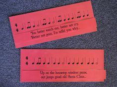 Christmas Rhythm Matchup - Match lyrics to rhythms. Again, perfect for when I'm busy with plays.