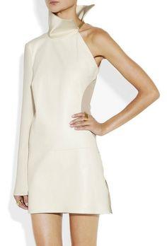 Otherworld chic: Esteban Cortazar Asymmetric Cutout Leather Dress