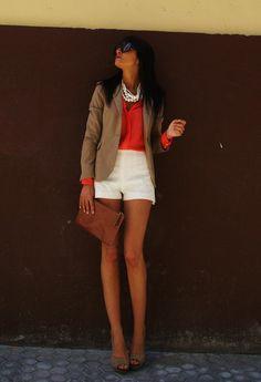 Zara  Pantalones cortos and Zara  Camisas / Blusas