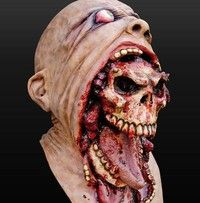 Wish | Bloody Zombie Mask Melting Face Adult Latex Costume Walking Dead Halloween Scary