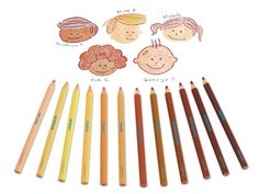 People Colors® Jumbo Colored Pencils at Lakeshore Learning Colors For Skin Tone, All The Colors, Emotional Awareness, Lakeshore Learning, Storybook Characters, Color Crayons, Easy Arts And Crafts, Calming Colors, Preschool Art