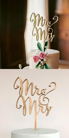 """[Visit to Buy] """"Mr and Mrs"""" Antic Rustic Wedding Cake Topper Laser Cut Wood letters Wedding Cake Decorations Favors Supplies Engagement Gifts #Advertisement"""