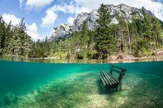 Bänke, Wiesen und Wanderwege verschwinden unter den Wassermassen. (Foto: hgm-press)