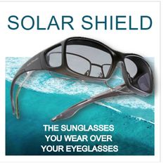 Down by the beach - Solar Shield! Wear over eyeglasses!