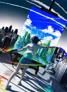 Yuumei's purely amazing artworks focus on smart and deeply engaging topics such as cyber activism and environmentalism.