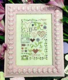 """""""Love Notes is the title of this cross stitch pattern from Shepherd's Bush."""""""