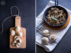 Μανιτάρια και άγριο ρύζι με maple syrup - madameginger.com Creative Food, Nom Nom, Stuffed Mushrooms, Rice, Recipes, Stuff Mushrooms, Ripped Recipes, Laughter